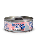 Monge Cat Natural Tuna and Chicken with Shrimps 80 гр