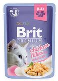 Brit Premium Cat Pouch with Chicken Fillets in Jelly for Adult Cats 85 гр