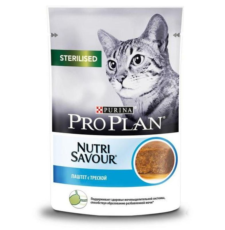 Purina Pro Plan NutriSavour Sterilised Cod 85 гр