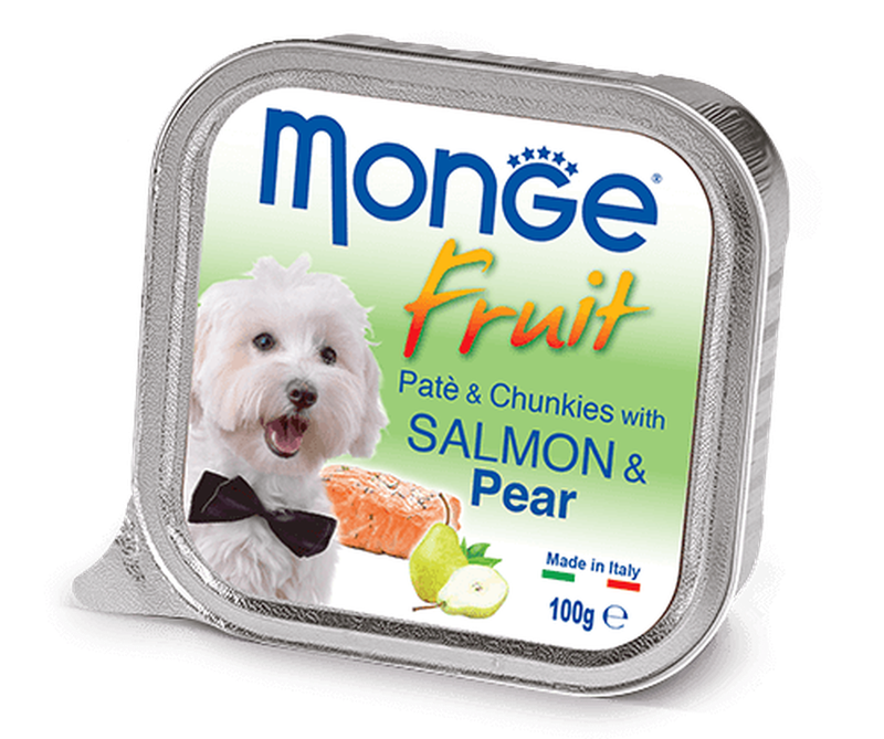 Monge Dog Fruit Paté and Chunkies with Salmon and Pear 100 гр