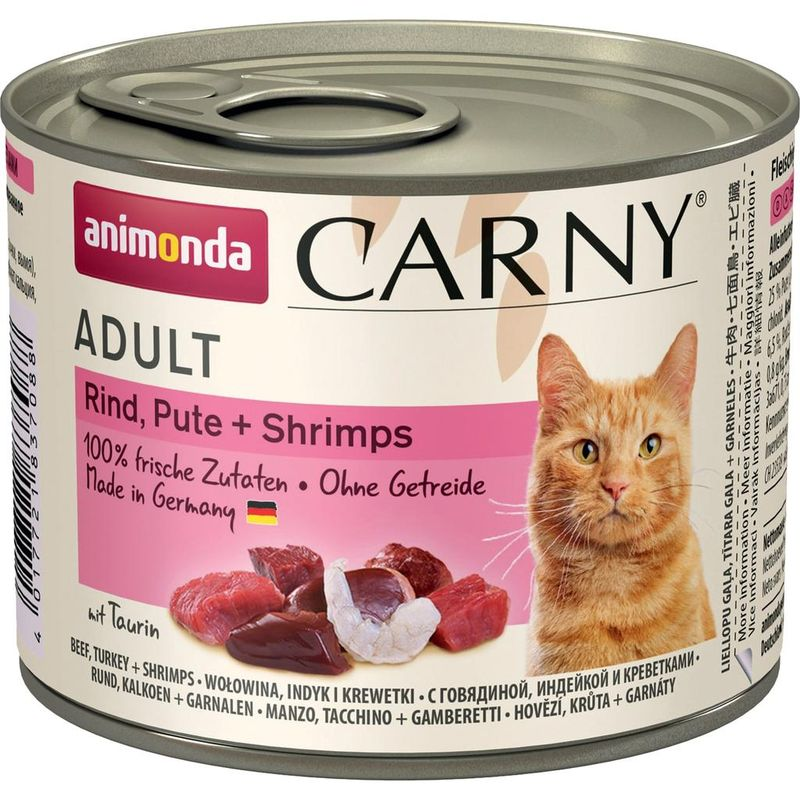 Animonda Carny Adult Cat - Beef, Turkey Shrimps 200 гр