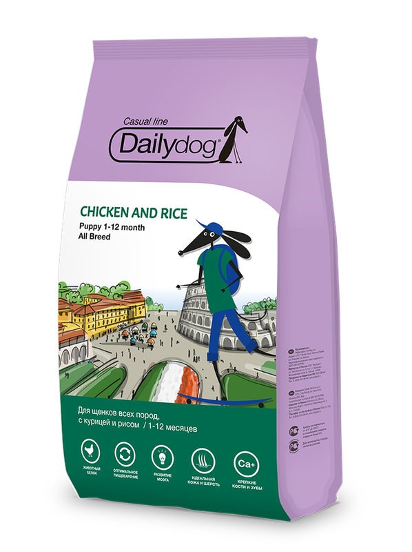 Dailydog Casual line Puppy all breed Chicken and Rice 3 кг