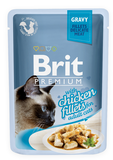 Brit Premium Cat Pouch with Chicken Fillets in Gravy for Adult Cats 85 гр