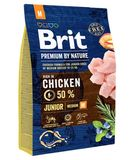 Brit Premium by Nature Dog Junior M 1 кг