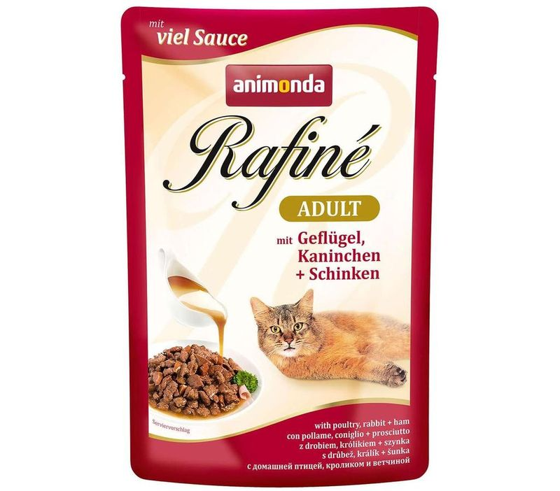 Animonda Rafine Adult Cat - Poultry & Rabbit Plus Ham 100 гр