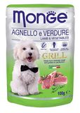 Monge Dog Grill Pouch Lamb & Vegetables 100 гр