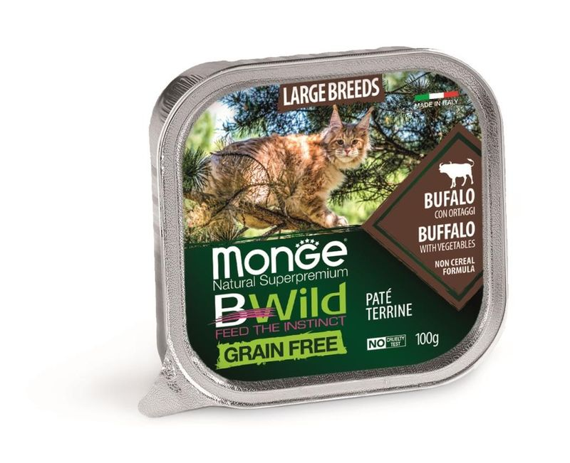 Monge Cat BWild GRAIN FREE Buffalo 100 гр