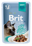 Brit Premium Cat Pouch with Beef Fillets in Gravy for Adult Cats 85 гр