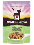 Hill's Ideal Balance Feline Adult Turkey & Vegetables Pouch 85 гр