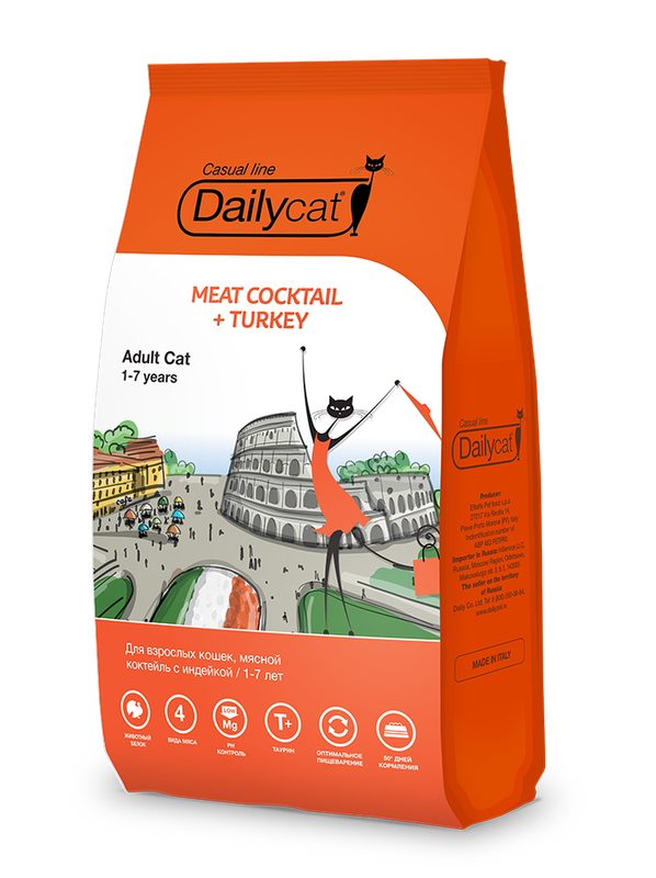 Dailycat Casual line Adult Meat Cocktail + Turkey 400 гр