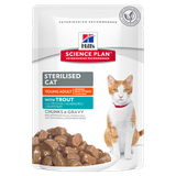 Science Plan™ Feline Sterilised Cat Young Adult with Trout 85 гр