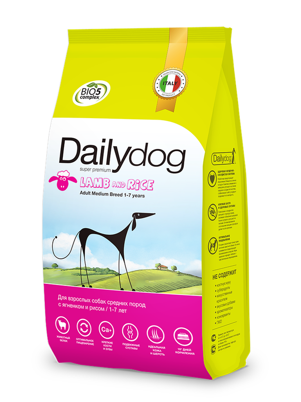 Dailydog Adult Medium Breed Lamb and Rice 3 кг