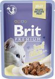 Brit Premium Cat Pouch with Beef Fillets in Jelly for Adult Cats 85 гр